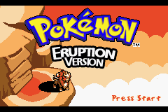 Pokemon Eruption (beta 2.1) - Introduction  - Title Screen - User Screenshot
